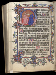 Historiated Initial To Psalm 109, In The 'Princess Joan Psalter'